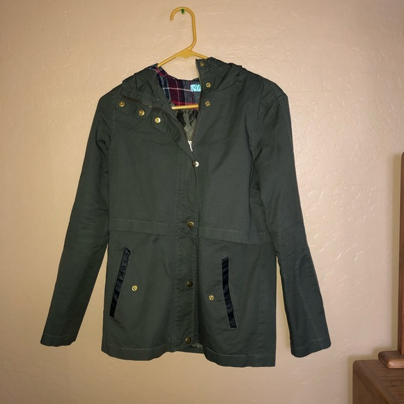 Francesca's Collections Jackets & Blazers - Green Utility Jacket